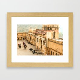 Elephants in the Amber Fort Framed Art Print