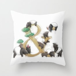 malayan tapir Throw Pillow