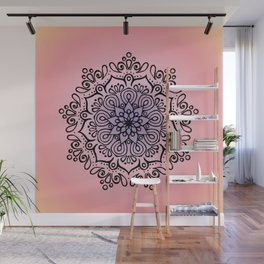 Baesic Sunset Traquil Mandala Wall Mural