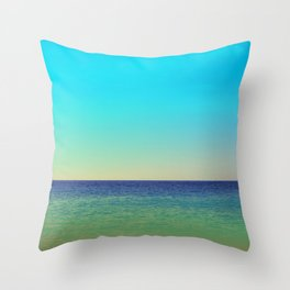 Mediterranean Sea Throw Pillow