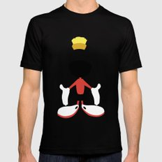 Looney Toons - Marvin the Martian Black Mens Fitted Tee MEDIUM