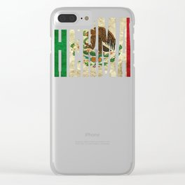 Hermano Gift Mexican Design For Mexican Flag Design For Mexican Pride Vintage Flag2 Clear iPhone Case
