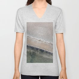 Aerial Salty Waters at Curaçao, Aerial Photography, Travel Art Photography, Aerial Art Print Unisex V-Neck
