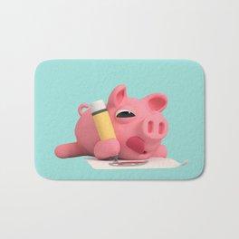 Rosa the Pig Drawing Bath Mat