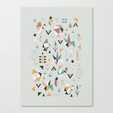 Geometric boho succulents Canvas Print