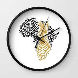 African Tribal Pattern No. 43 Wall Clock