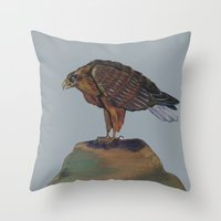 eagle Throw Pillows featuring Eagle  by ArtSchool