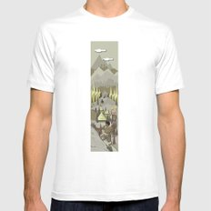 A Bronze Age Landscape Mens Fitted Tee MEDIUM White