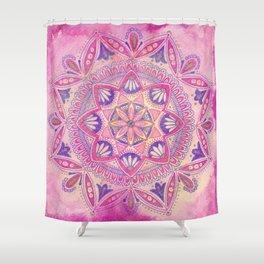 Magenta Bohemian Mandala Shower Curtain