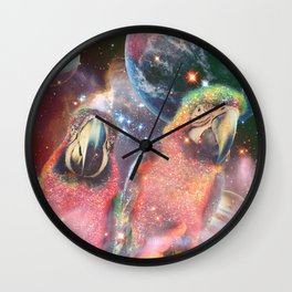 Space Birds Wall Clock