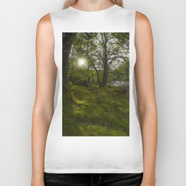 Morning River Sun Biker Tank
