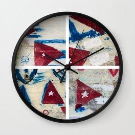 Bandera Cubana Wall Clock