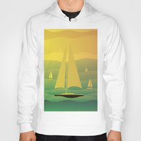 sailing Hoodies featuring Sailing by Chris Cooch