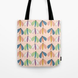 Summer Night Flutters | Peach Tote Bag