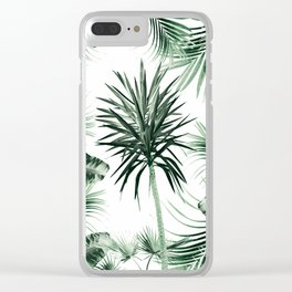 Tropical Summer Vibes Leaves Mix #2 #tropical #decor #art #society6 Clear iPhone Case