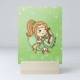 Cute Sagitarius Chibi Girl Mini Art Print