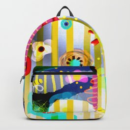YELLOW LINES CRAZY NON SENSE RUPYDETEQUILA HOME SHT FORAL 2020 Backpack
