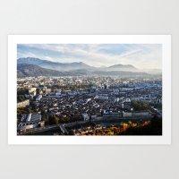 Grenoble downtown Art Print