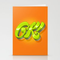kim sy ok Stationery Cards featuring Ok by Roberlan Borges