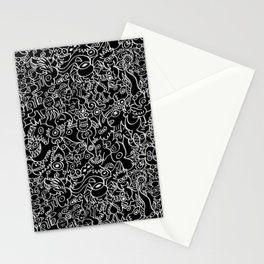 Pattern design crowded with terrific doodles Stationery Cards