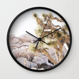 Close Up Of Joshua Tree In Desert Wall Clock