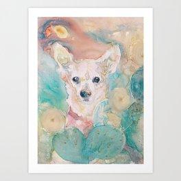 """The Rare """"Chihuahua"""" Cactus Art Print"""