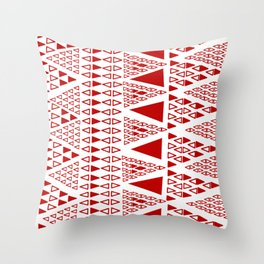Zig Zag Pattern -  brick red Throw Pillow