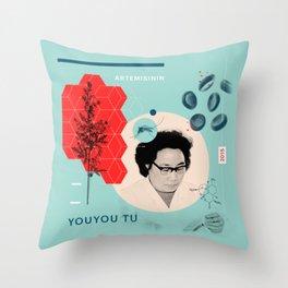 Beyond Curie: YouYou Tu Throw Pillow