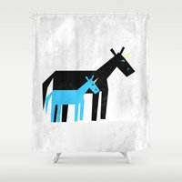 dad Shower Curtains featuring Thanks Dad by That's So Unicorny