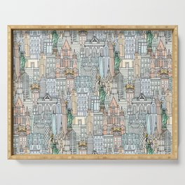 New York watercolor Serving Tray
