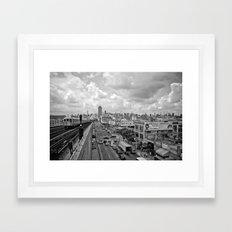 New York From the Seven Train Framed Art Print
