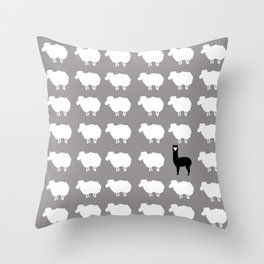 Don't be a sheep, Be a Llama Throw Pillow