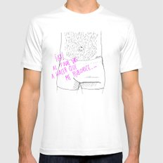 Vas a hacer que me ruborice...  MEDIUM Mens Fitted Tee White