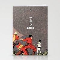 akira Stationery Cards featuring Akira by Rafael Romeo Magat