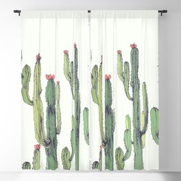 Desert Cactues Blackout Curtain