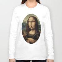mona lisa Long Sleeve T-shirts featuring Mona Lisa by Alexander Novoseltsev