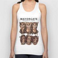 religious Tank Tops featuring Emancipated Monkeys  by Alexandra Davidoff