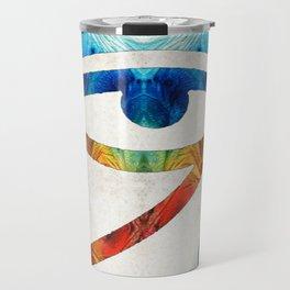 Eye of Horus - Art By Sharon Cummings Travel Mug