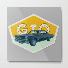 GTO Vintage Badge Metal Print