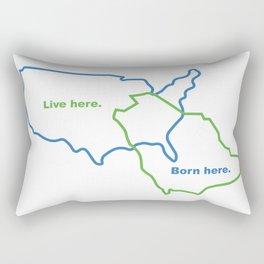 USA and Saudi Arabia Maps Combined Rectangular Pillow