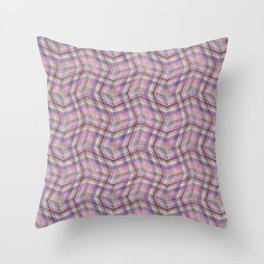 Overlapping lines in pink. Throw Pillow
