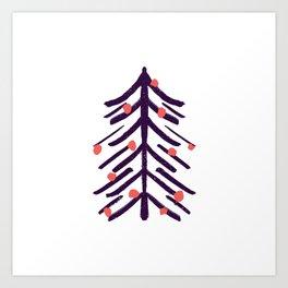 Spiky Christmas tree Art Print
