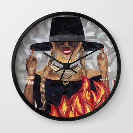 Okay Ladies, Now Let's Get in Formation Wall Clock