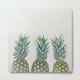 Pineapple Trio Metal Print