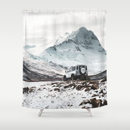 on the road in iceland Shower Curtain