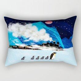 Penguin and Steam Train Rectangular Pillow