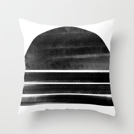 black and white shapes Throw Pillow