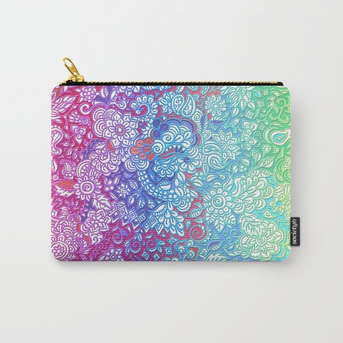 Fantasy Garden Rainbow Doodle Carry-All Pouch