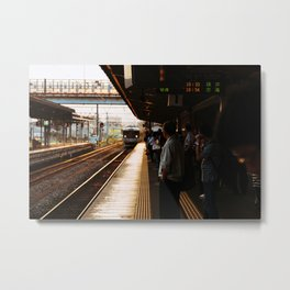 Golden Hour Train Metal Print