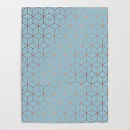 Gold Cubes 8 Poster